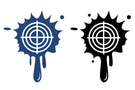 Target blue and black icon Vector