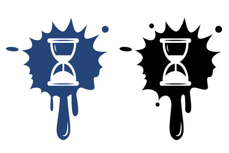 time icon: Hourglass time icon isolated