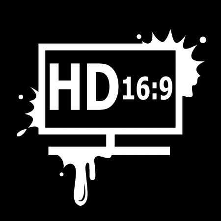 full hd: HD display black background Illustration