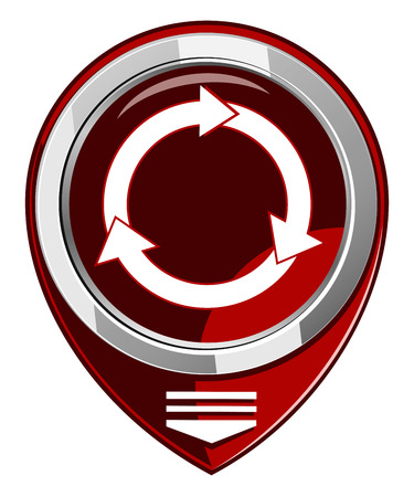 Arrows circle red map pointer Vector