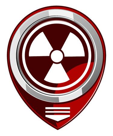 barrel radioactive waste: Radioactive red map pointer