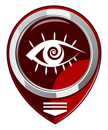 red map pointer - Human eye
