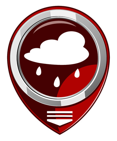 drench: Rain cloud - red map pointer Illustration