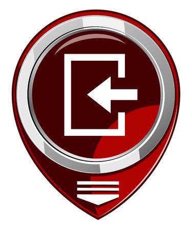 loging: Enter- red map pointer