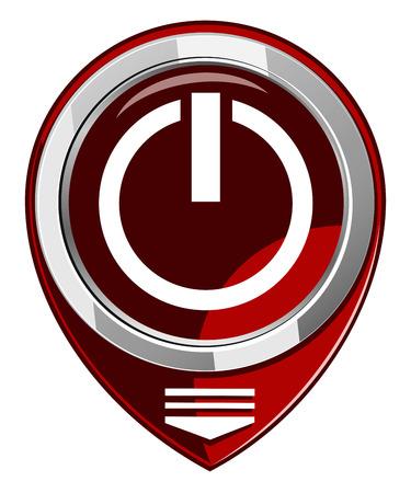 posicionamiento de marca: Mapa Poder puntero rojo