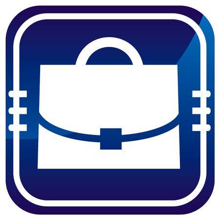 Case - on blue button Stock Vector - 22458070