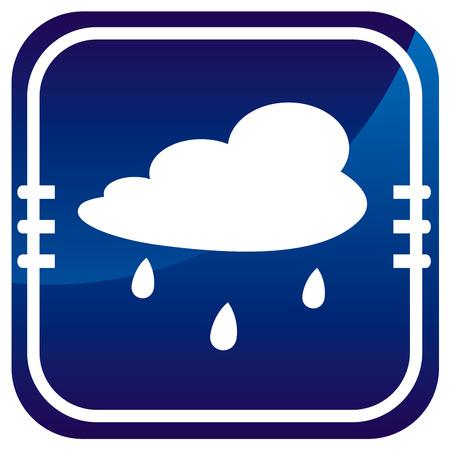 drench: Nube de lluvia - el bot�n azul Vectores