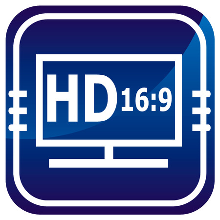 HD display on blue button.