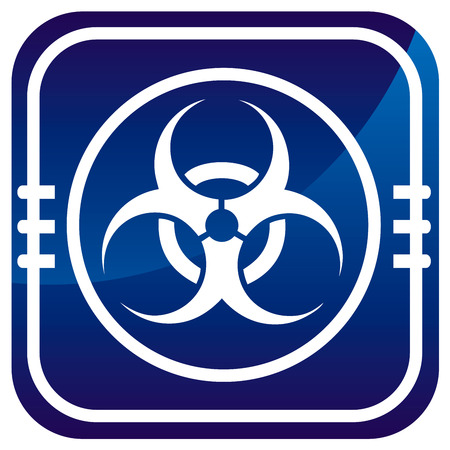 Warning symbol biohazard map pointer Stock Vector - 22458120