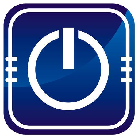 Power blue icon Vector