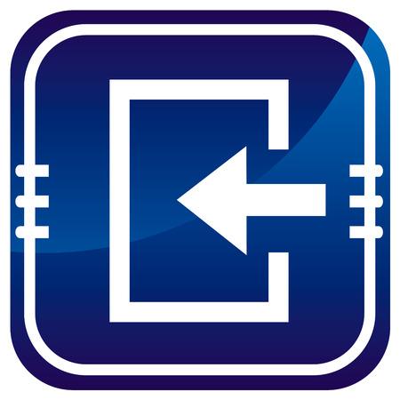 loging: Enter- blue icon