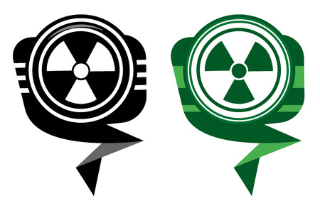 Radioactive black and green pointer Vector