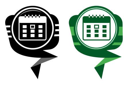Calendar organizer -  black and green pointer Stock Vector - 22587795