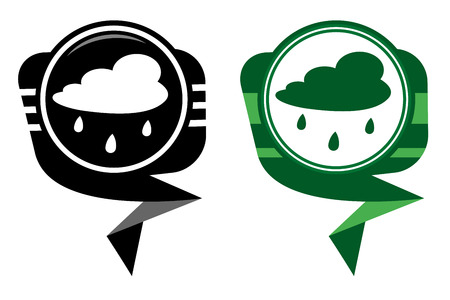 scat: Rain cloud - black and green pointer