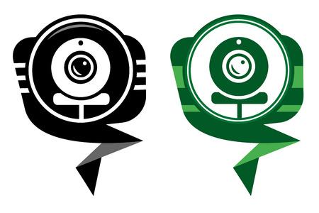 webcam: Webcam - black and green pointer