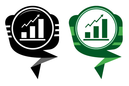 Graph Icon. Black and green pointer Stock Vector - 22587901