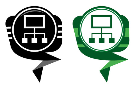 Network black and green pointer Vector