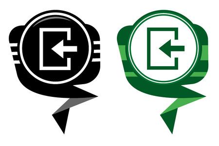 loging: Enter- black and green map pointer