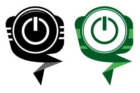 posicionamiento de marca: Poder negro y verde puntero del mapa Vectores