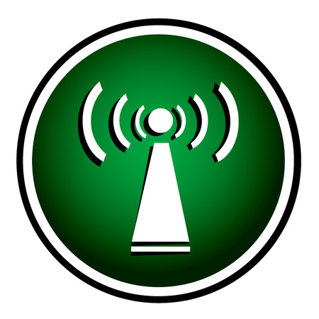 Wifi green round icon Vector
