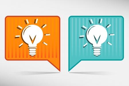 led light bulb: Light bulb orange and blue pointer