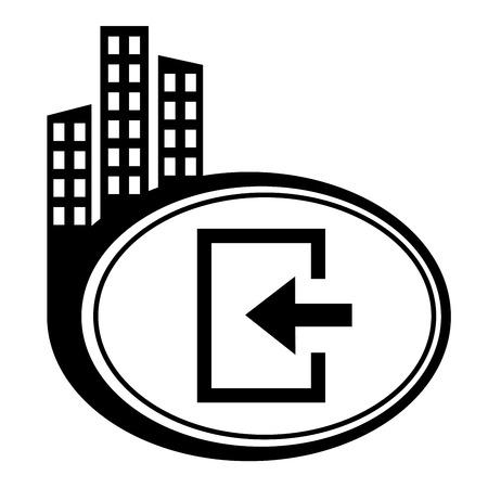 loging: Enter- city pointer Illustration