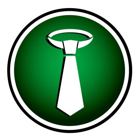 dresscode: Necktie - round green icon