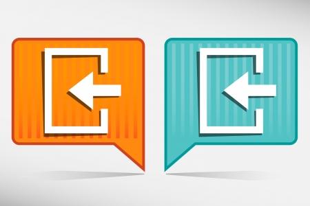 loging: Enter- orange and blue pointer