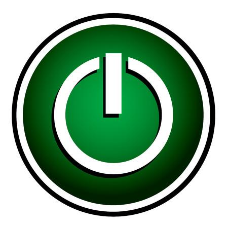posicionamiento de marca: Potencia icono verde redondo