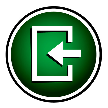 loging: Enter- green round icon Illustration