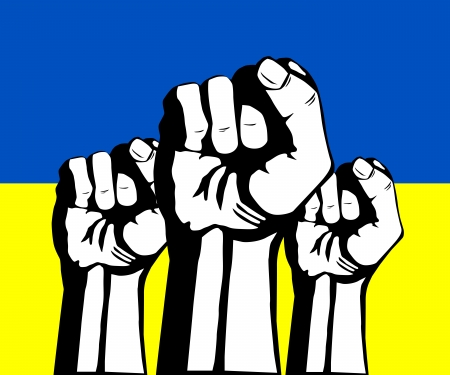 commission: Protest in Ukraine. Clenched fist held in protest.