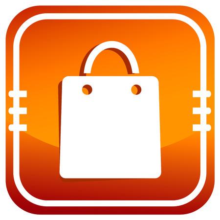 shopping bag icon: Vektor-Einkaufstasche Symbol Illustration