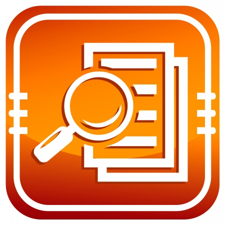Magnifying glass - Search the document. Vector