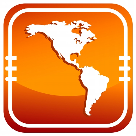 the americas: Americas map vector icon