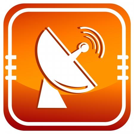 Satellite antenna. Single icon.  Vector