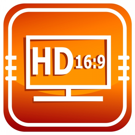 LCD tv full HD Vector