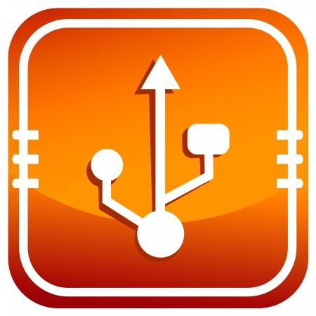 USB symbol,vector Vector