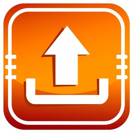 Upload icon orange Stock Vector - 25186025