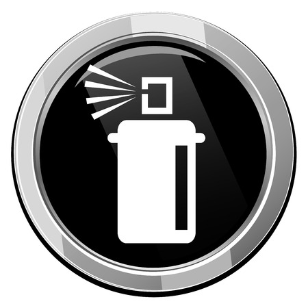disinfectant: Spray with chemicals. illustration.