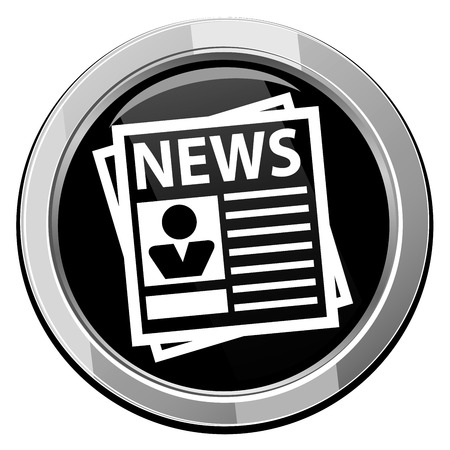 Newspaper round icon. illustration. Иллюстрация