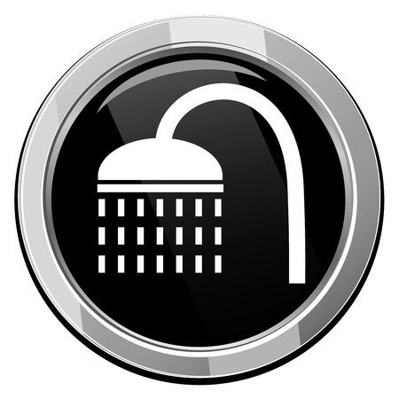 rinse: Shower icon. illustration. Illustration
