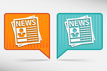 Newspaper icon set. illustrations of newspaper. Vector