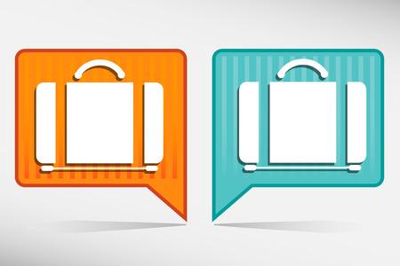 packing suitcase: Suitcase - set icona