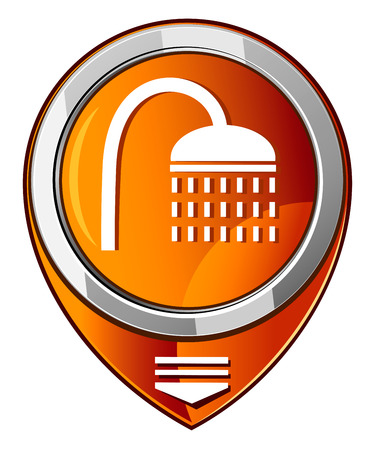 rinse: Shower icon in Orange pointer