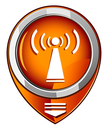 Wi-fi orange pointer Vector