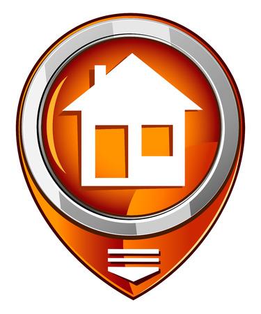 house silhouettes in orange pointer