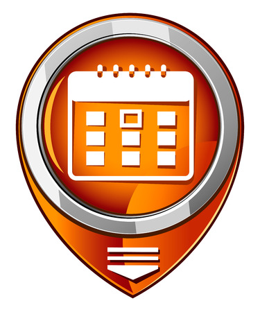 Calendar organizer -  orange pointer Vector