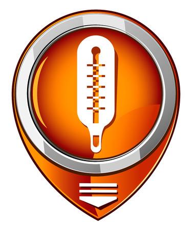 Thermometer in Orange pointer Stock Vector - 26619078