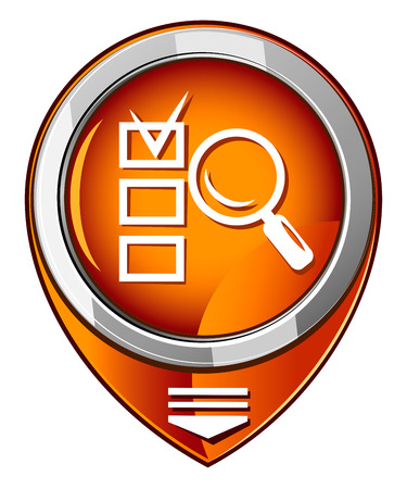 magnified: Magnifying glass orange pointer