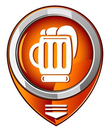 Beer orange pointer Illustration